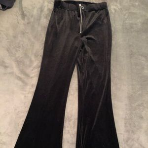 Velvet high waisted bell bottoms